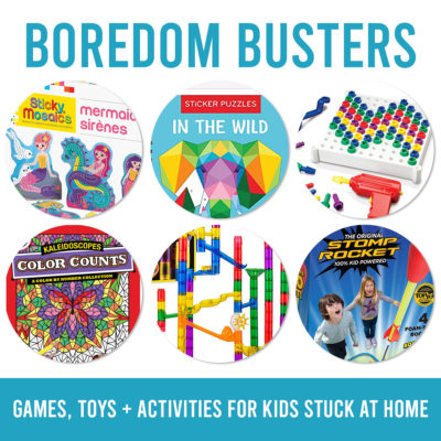 Boredom Busters for kids stuck at home {games, toys, books, etc.}