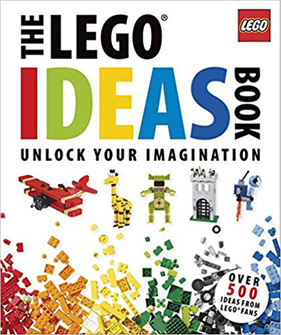The LEGO ideas book with things built from legos on the front