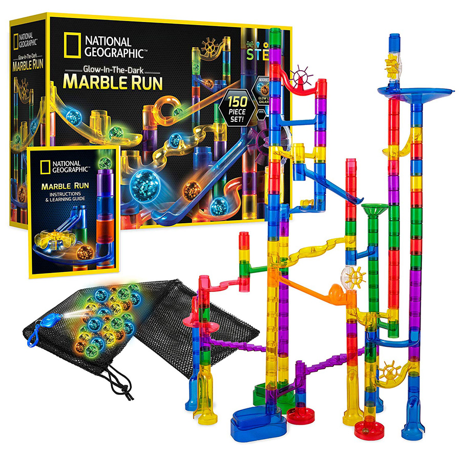 Box of marble run toy