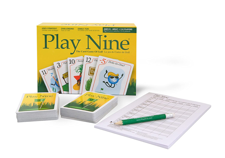 Play Nine game with cards and score pad