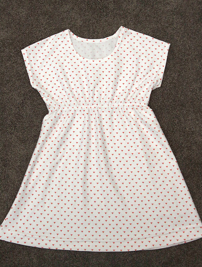 Finished play all day dress with gathered waist