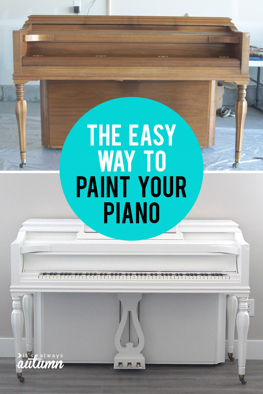 How to paint your piano - the easy way! Step by step instructions for painting a piano to match your decor.