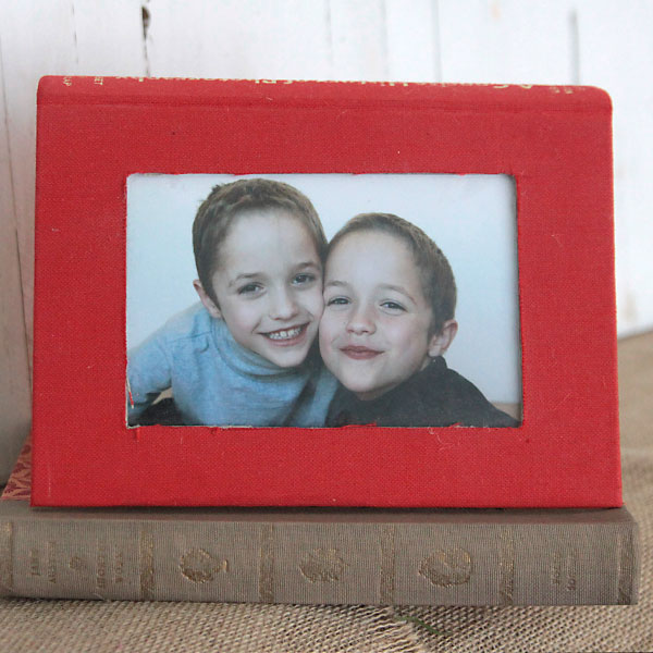 Photo frame made from a book
