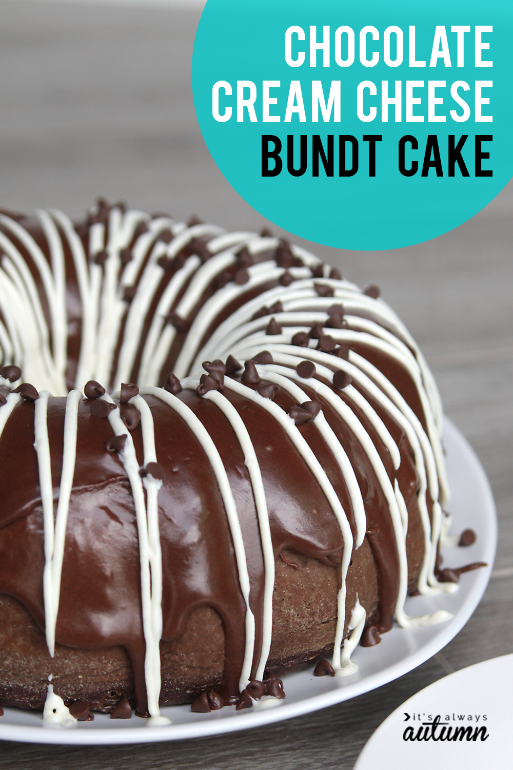 Chocolate cream cheese bundt cake! This is an amazing easy cake recipe.