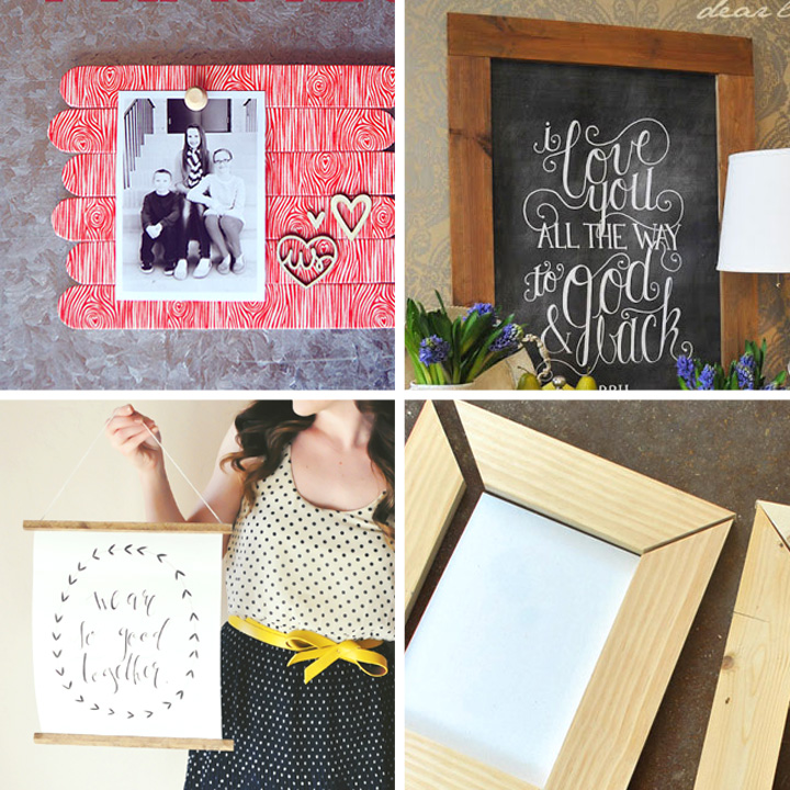 30 best DIY picture frame tutorials on the web - how to make a picture frame! Less expensive than buying frames, and you can make them in any size or style you like.