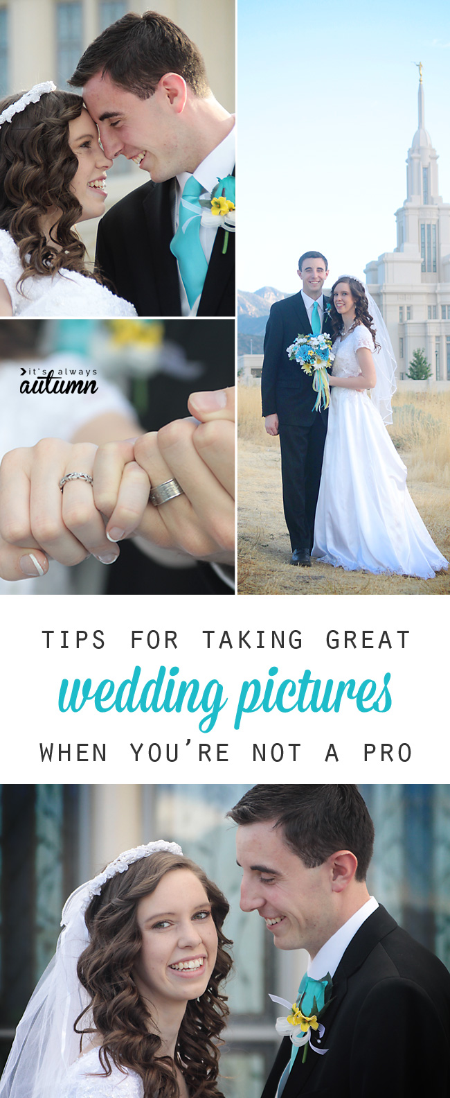 Tips for taking great wedding pictures when you\'re not a pro