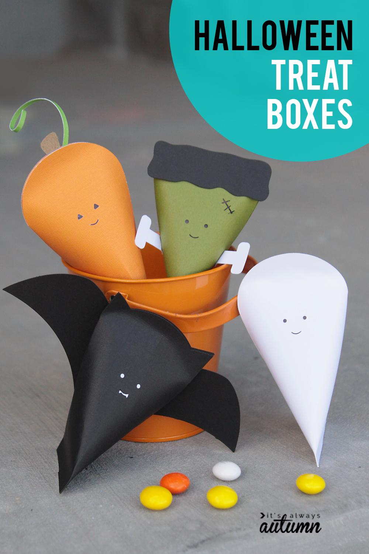Cute little Halloween treat boxes!