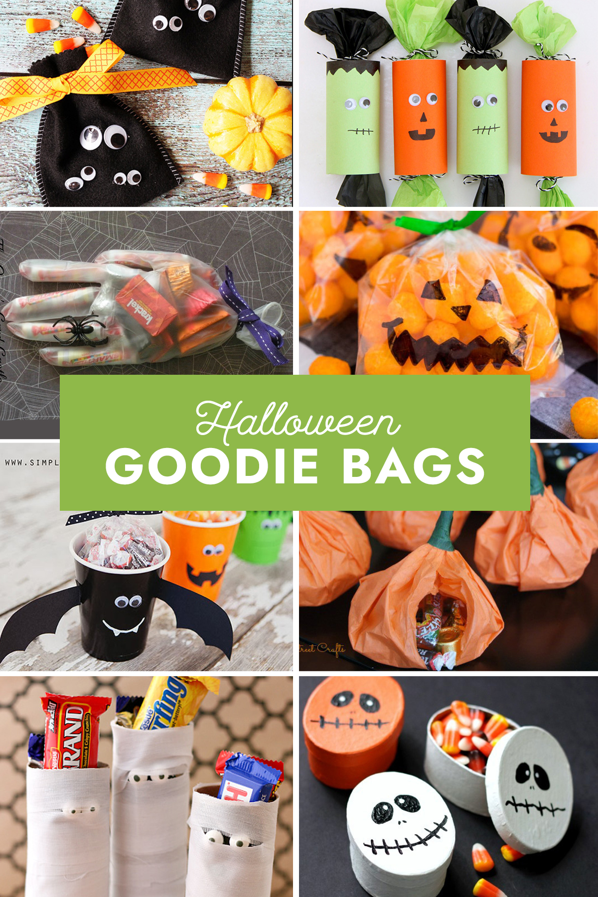 Halloween goodie bags collage