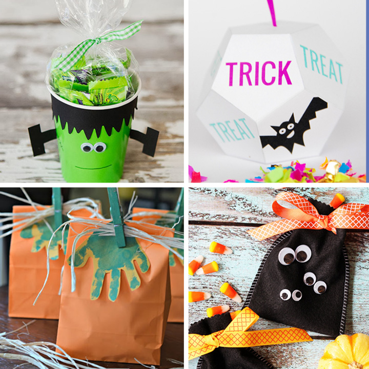20 cute & easy DIY Halloween treat bags and boxes