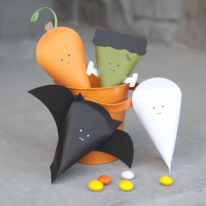 easy DIY Halloween character treat boxes