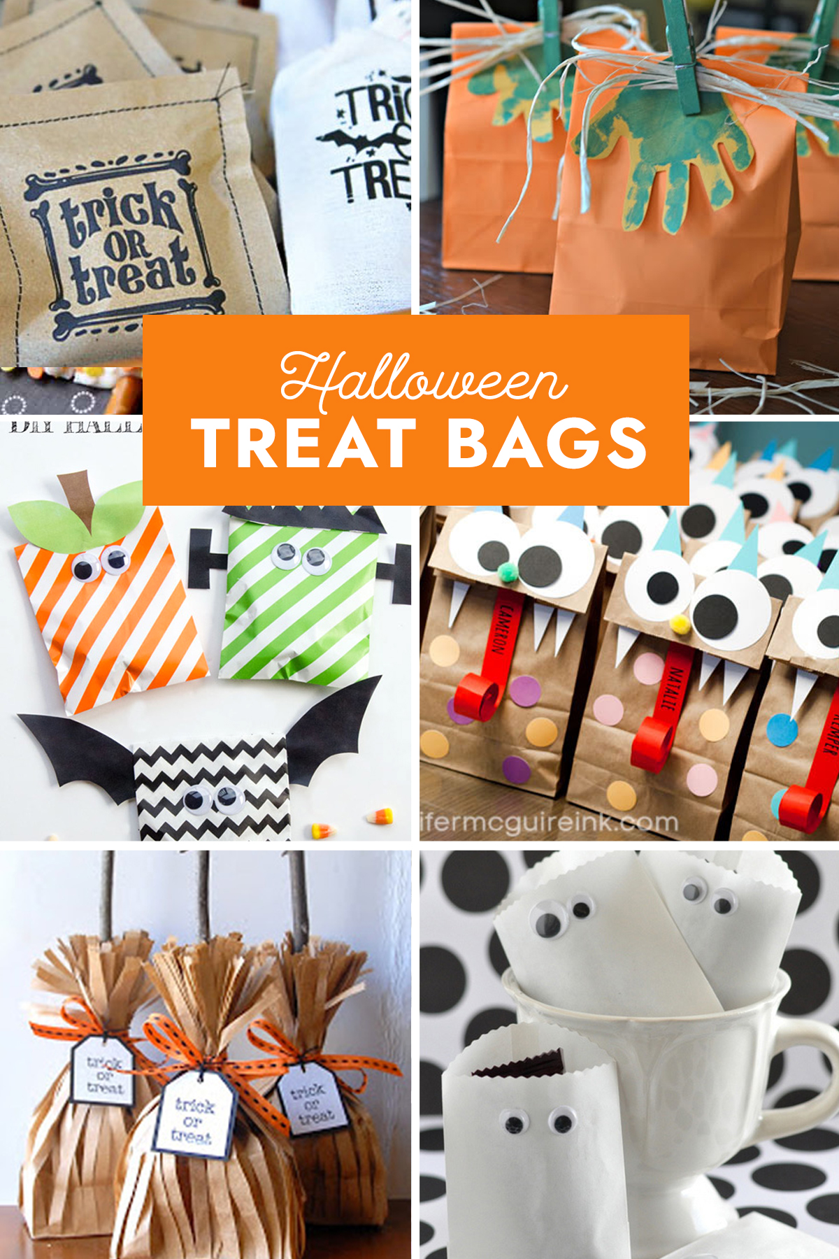 Collage of Halloween treat bags
