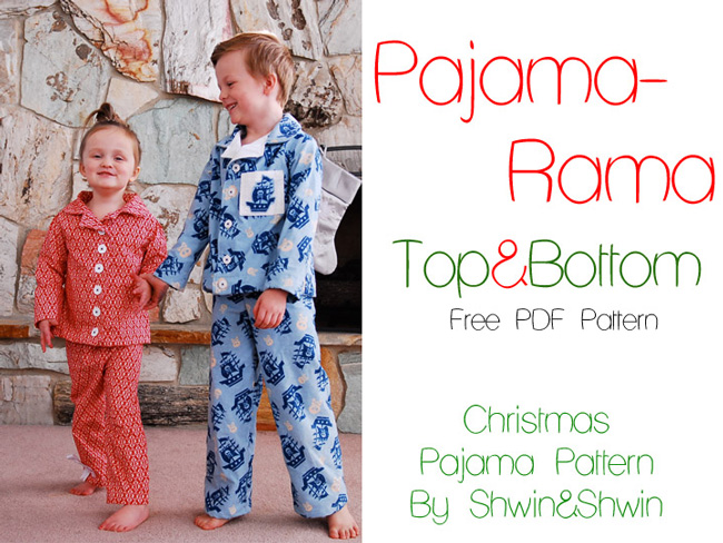Kids in pajamas made from free sewing pattern