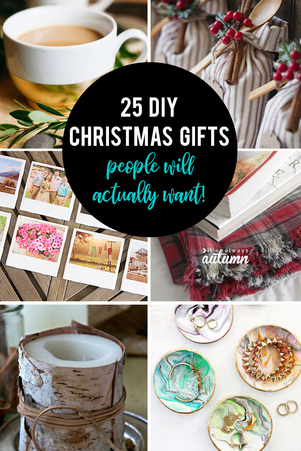 25 beautiful DIY Christmas gifts that people actually want! These are the best homemade Christmas gift ideas.
