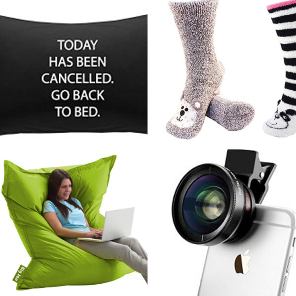 collage of gift ideas for teens