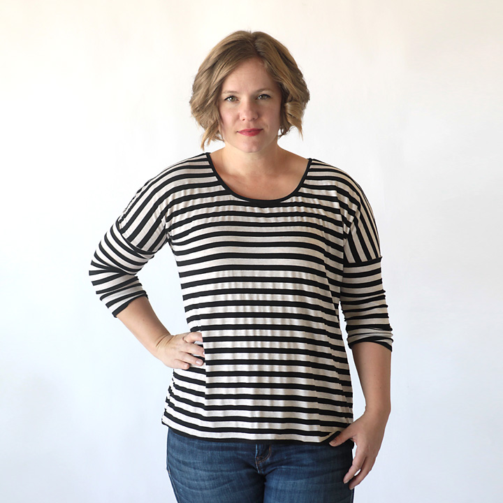 the breezy tee long sleeve add-on {free sewing pattern}