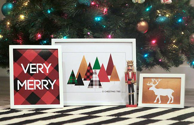 Modern Christmas printables - free Christmas prints and wall art for your home!