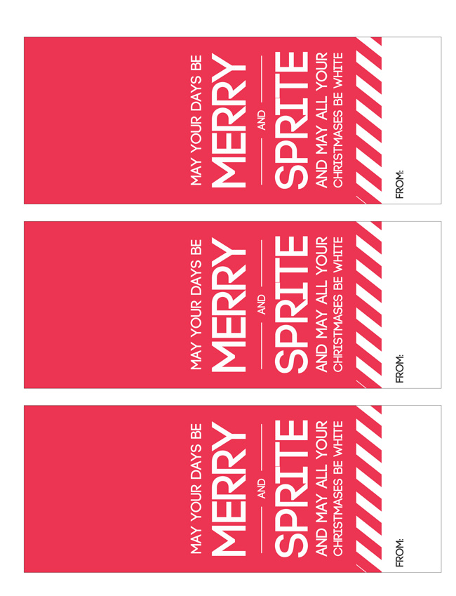 Merry and Sprite printable tags