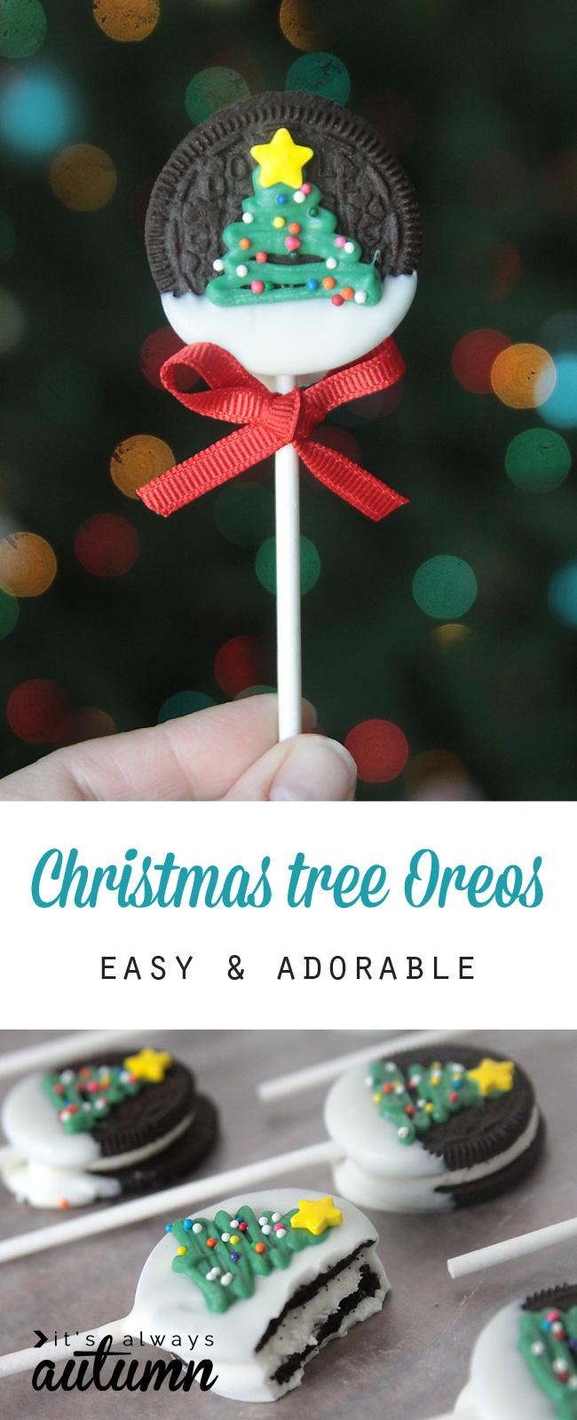 Christmas tree Oreo pop