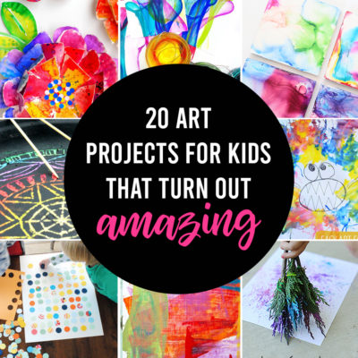 20 easy art projects for kids that turn out AMAZING!