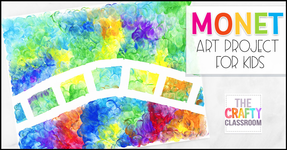 Monet inspired art project for kids