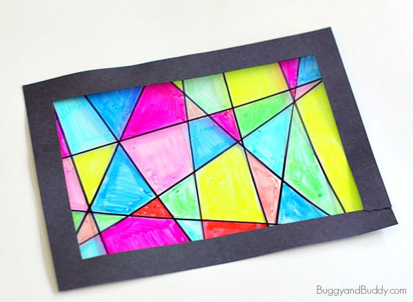 Kid\'s stained glass art project