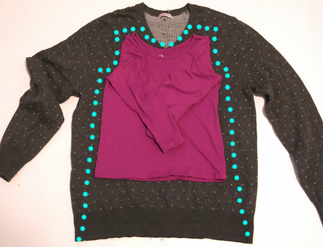So cute! How to turn an adult size sweater into a little girl's dress: easy sewing tutorial. I have the perfect sweater to try this with!