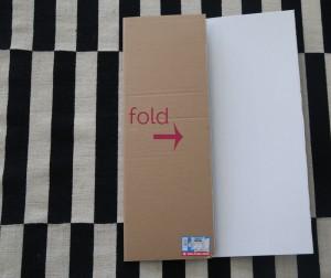 Tri fold presentation board, showing left side folded in