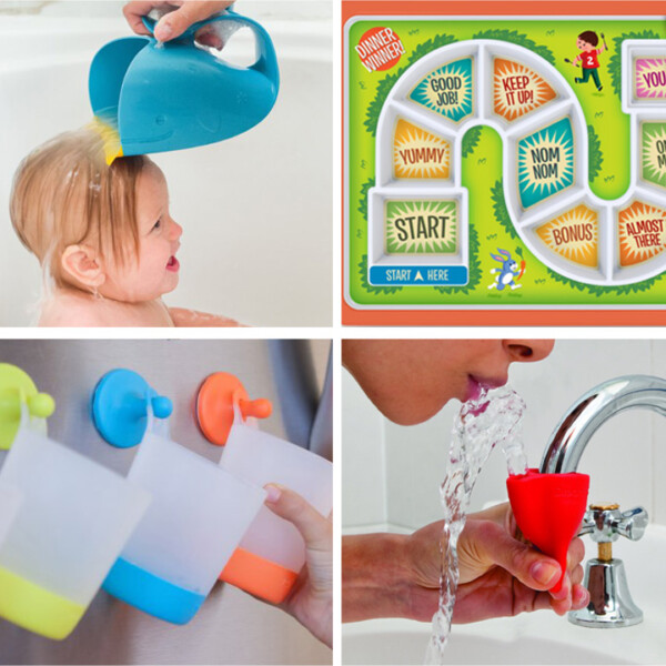 Collage of baby products that will make parent's life easier