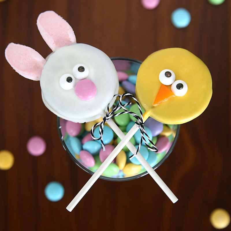 easy Easter bunny & chick Oreo pops