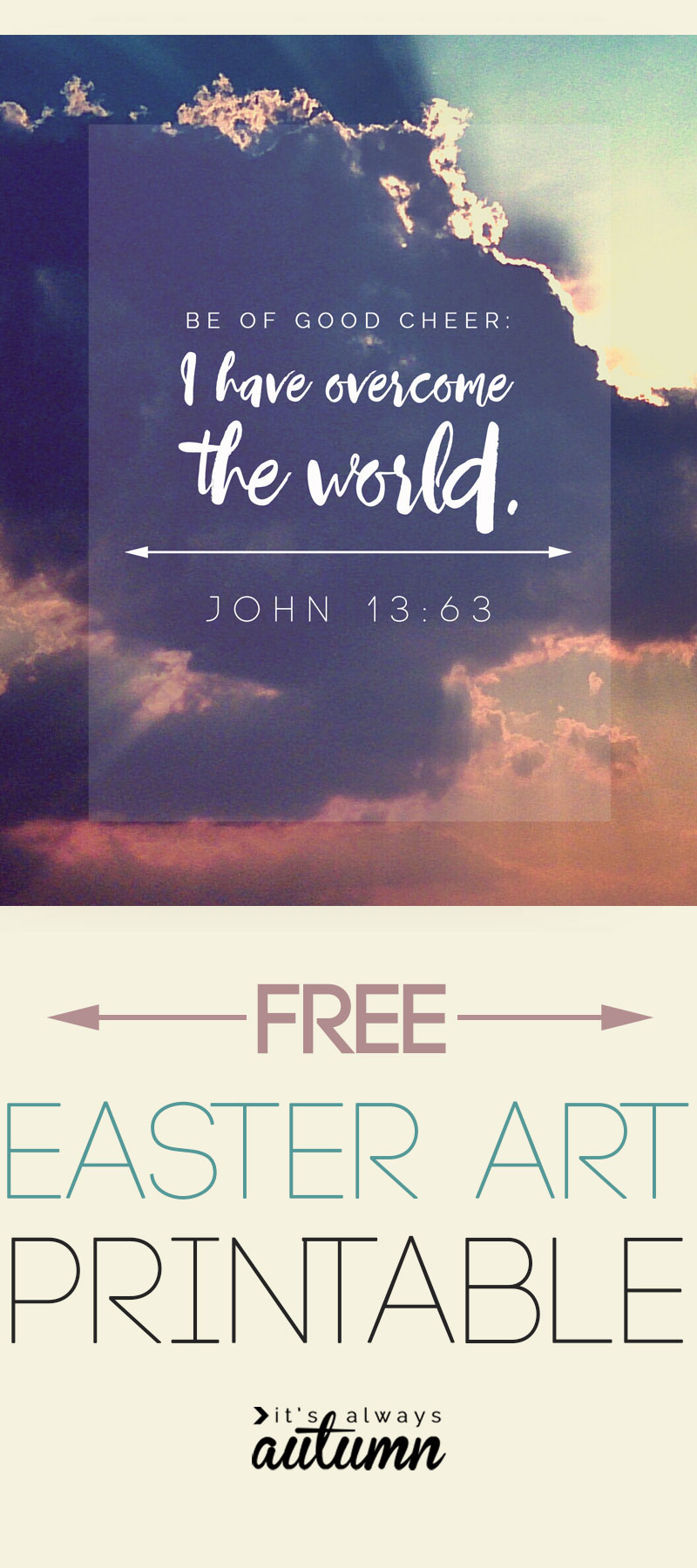 Free scripture verse art print