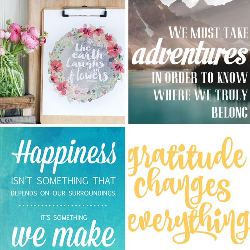 20 gorgeous & modern FREE inspirational quote printables