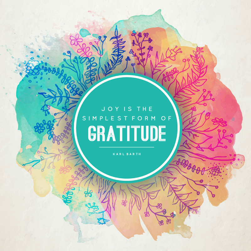 Quote print: joy is the simplest form of gratitude