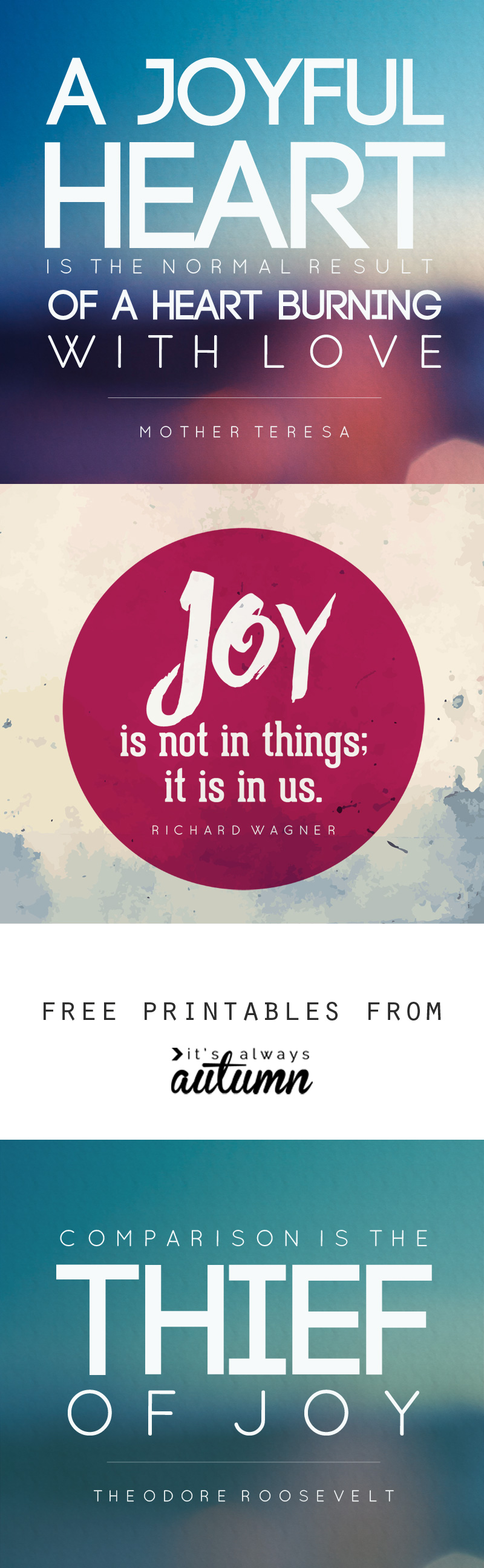 Free quote printables about Joy