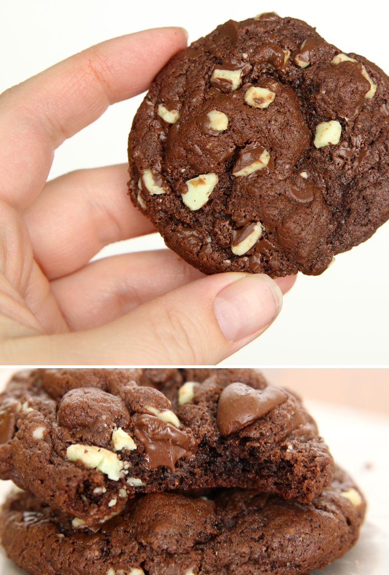 These rich & fudgy double chocolate cookies are made from a cake mix so they're super fast and easy! You can have hot cookies ready in 15 minutes with this recipe!