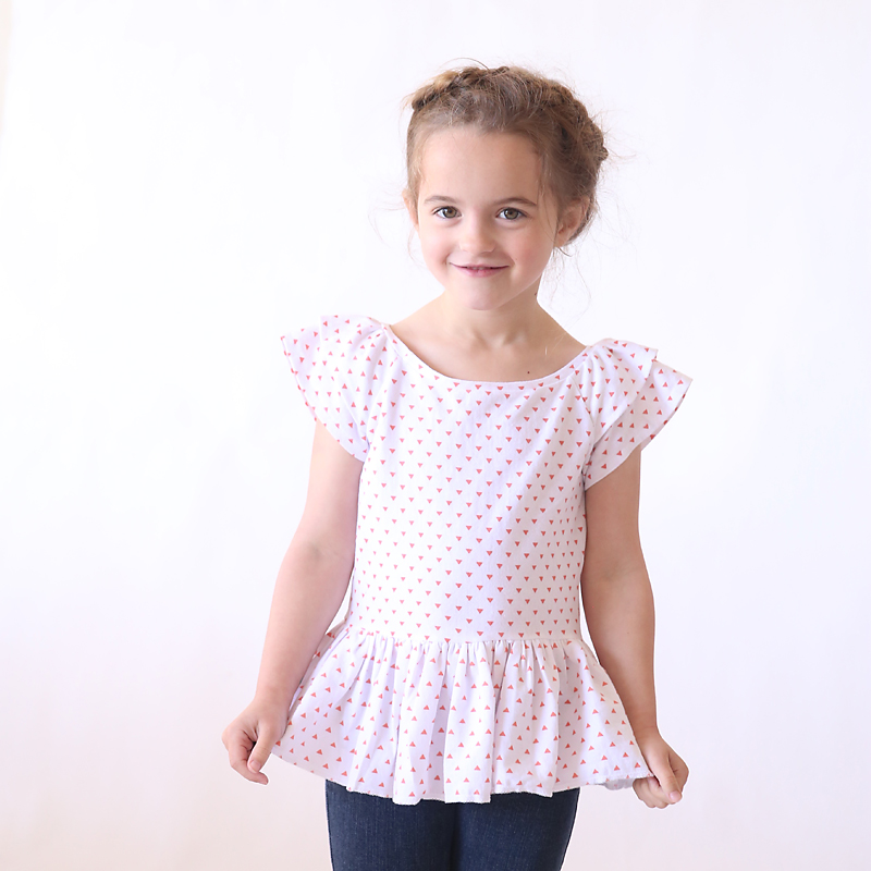 "the ""hello spring"" girls' top 
