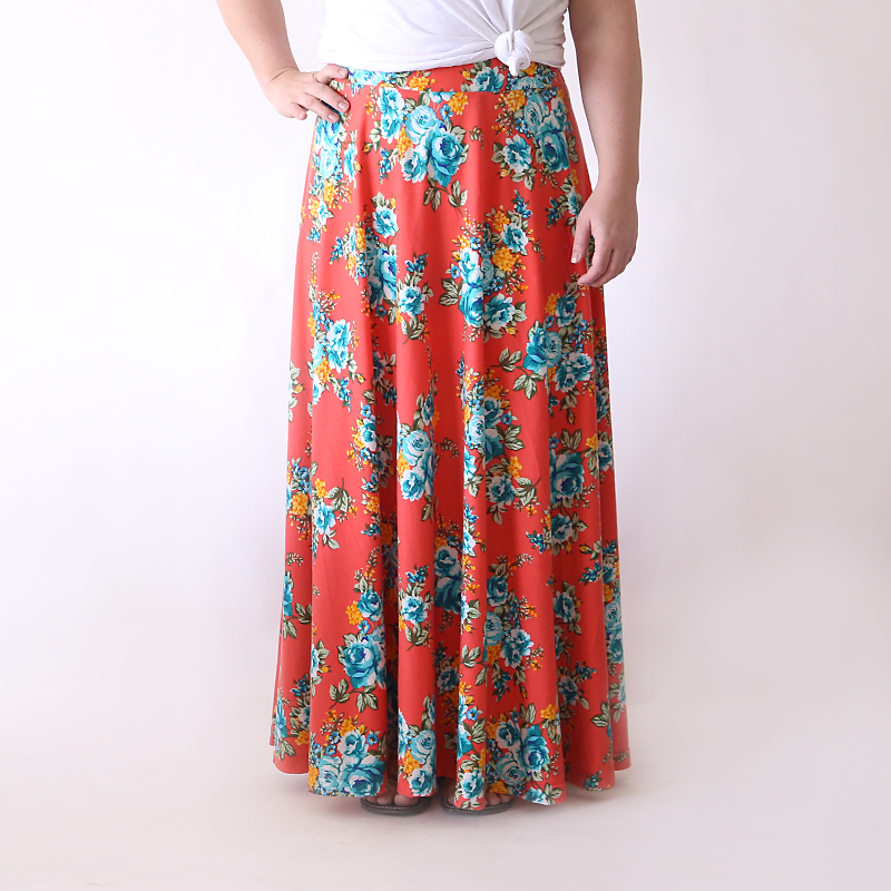 half circle maxi skirt | easy sewing tutorial
