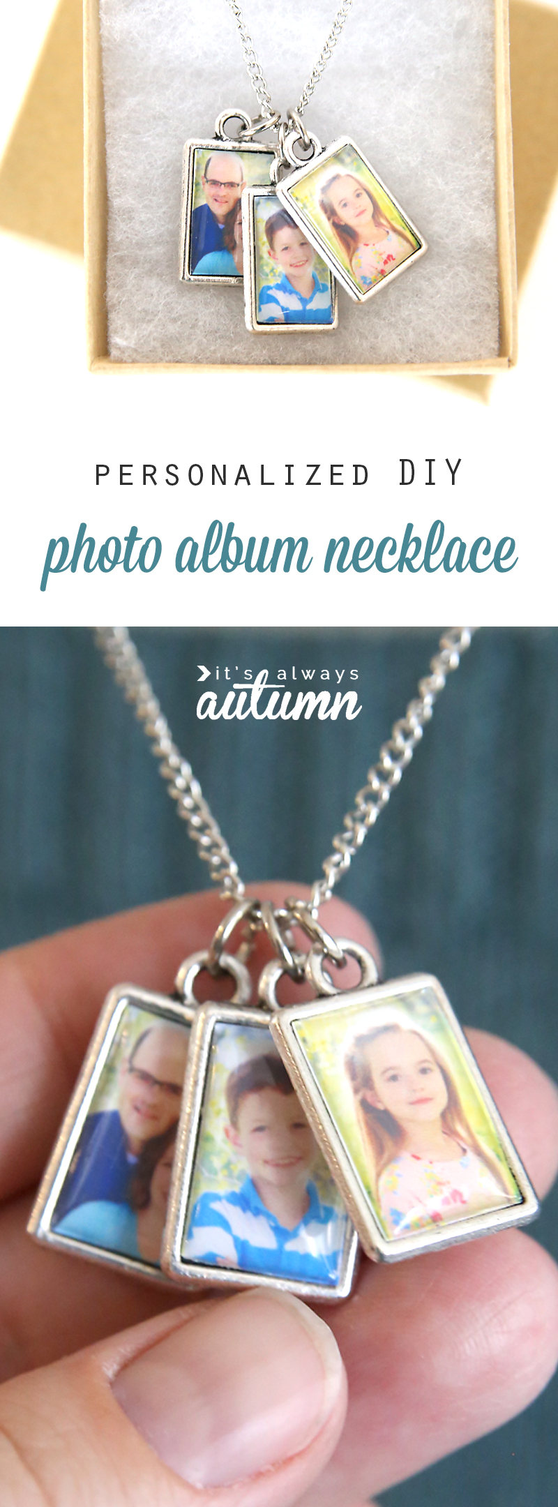 personalized necklace with photos in pendants