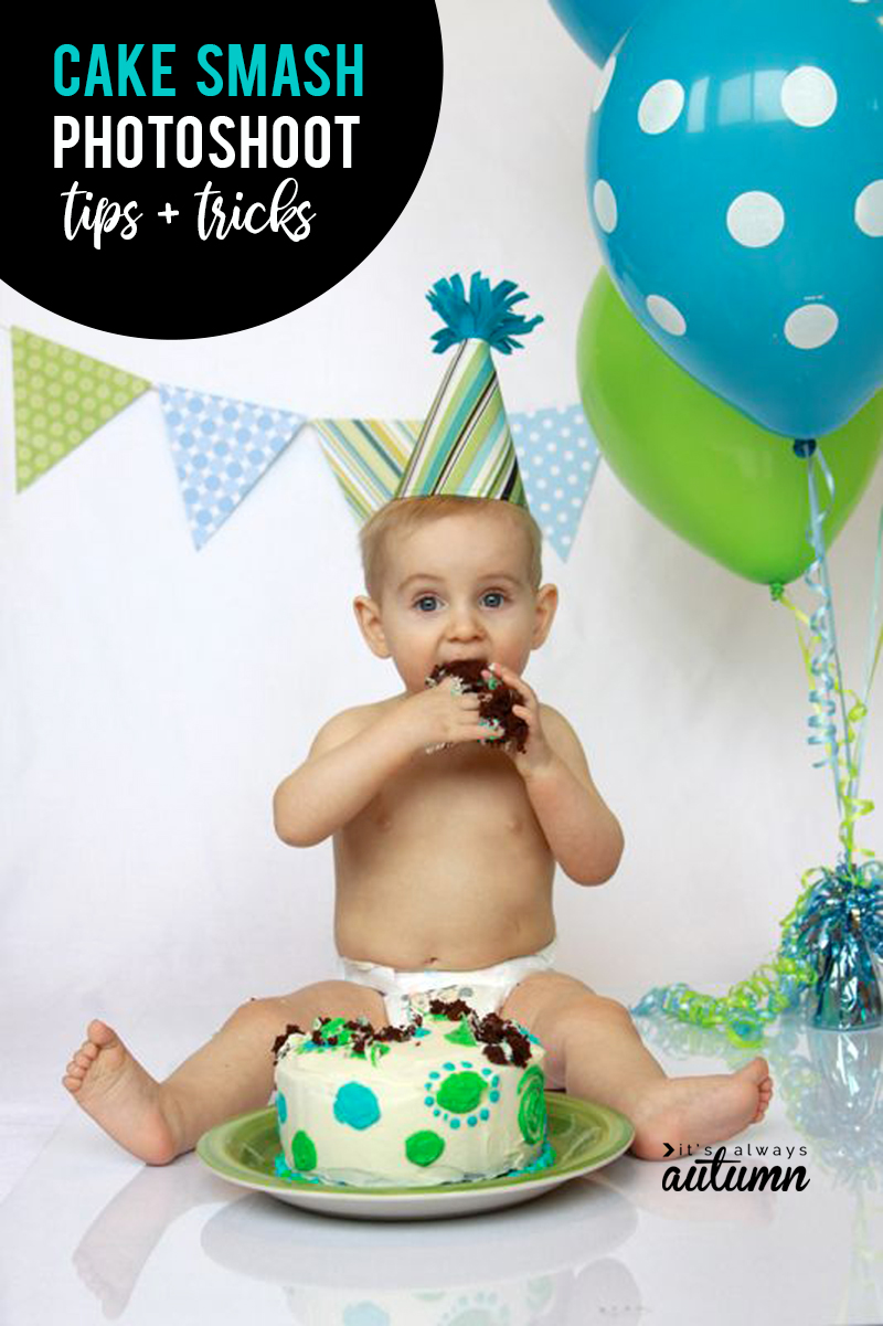 Celebrate your child's first birthday with a DIY cake smash photoshoot! Cake smash tips and tricks: from setup to photography.