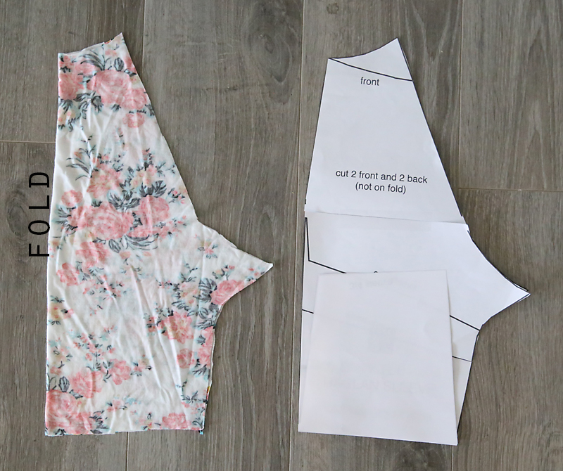 Sleeve pattern pieces