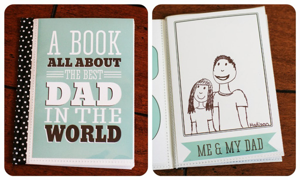 Printable all about Dad book