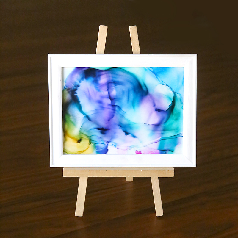 How to make gorgeous fired alcohol ink art {it's so easy!!}