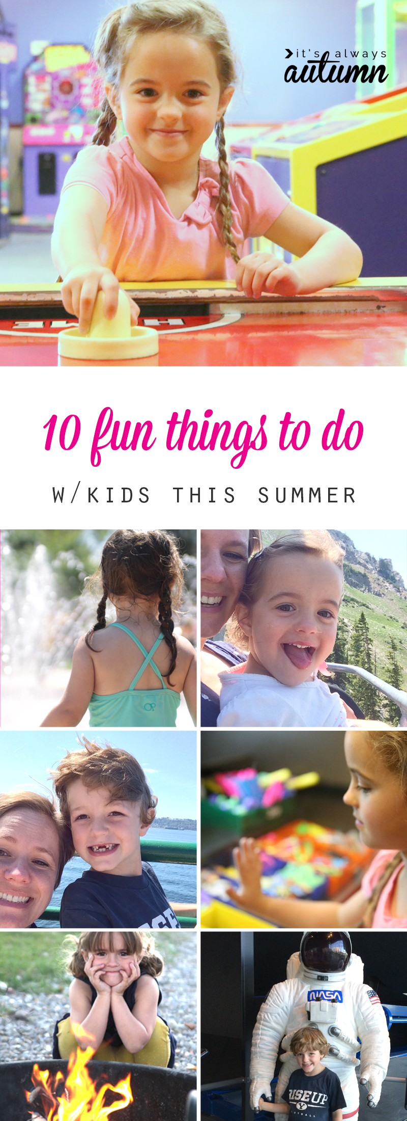 Don't let boredom ruin your summer! 10 super fun things to do with your kids when you need to get out of the house.