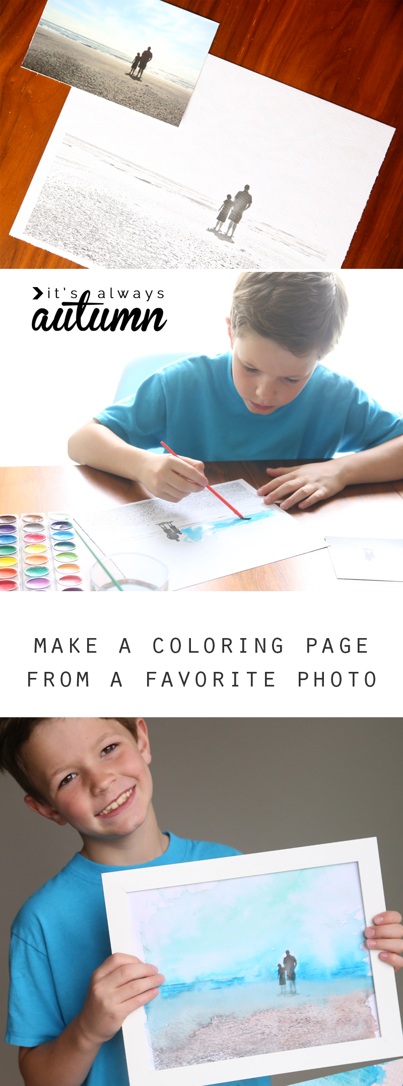 This is completely awesome: you can turn any photo into a personalized coloring page for your kids! What a fun summer activity.