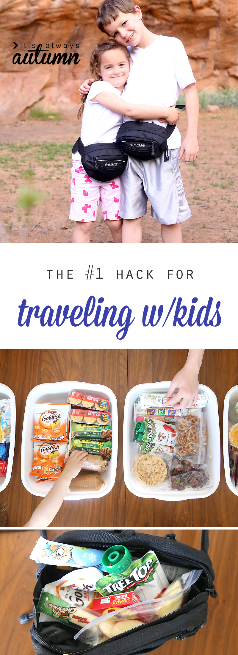 How to save money and keep kids happy on vacation: the number one tip for traveling with kids. This really works!