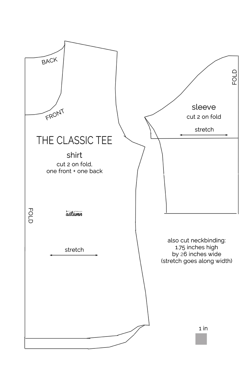 The classic tee pdf sewing pattern