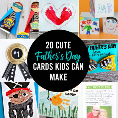 20 adorable Father's day card ideas for kids to make!