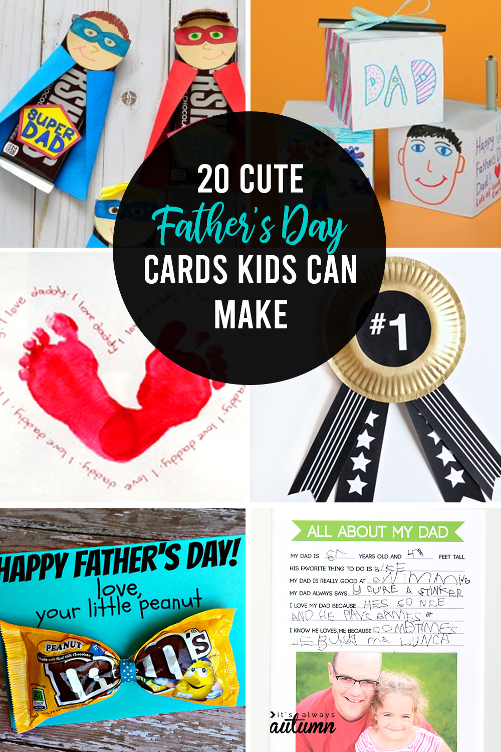 20 cute Father's Day card ideas for kids to make!