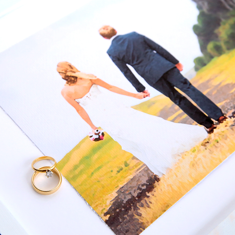 How to turn any photo into a painting you can print on your home printer - this turns out awesome! Would be a perfect DIY wedding gift.