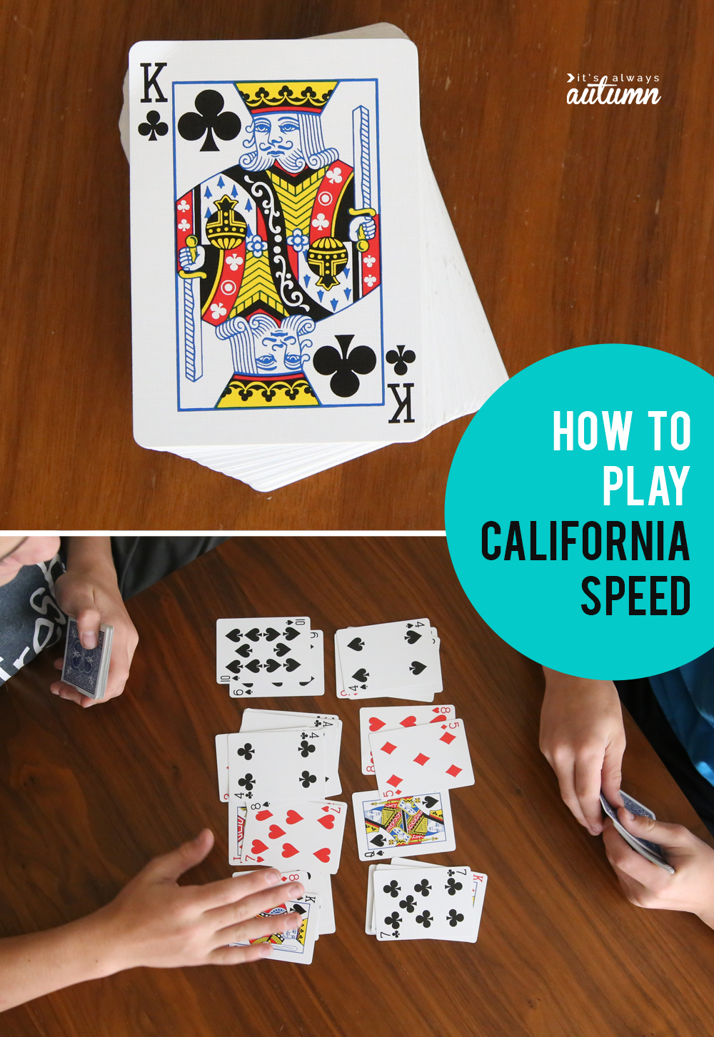 California speed is a fun, easy to learn and fast paced card game! Great game to teach your kids this summer.