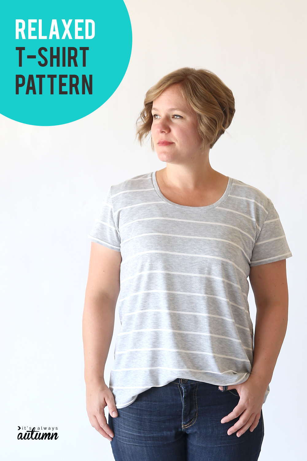 Learn how to sew a cute relaxed fit t-shirt with this sewing pattern and tutorial.
